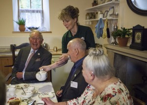 Mary pours the tea2 HRH laughing